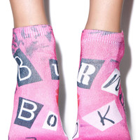 Living Royal The Burn Book Ankle Socks Pink One