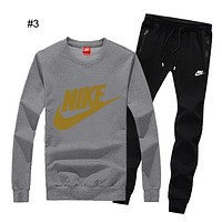 NIKE autumn and winter new casual plus velvet sportswear outdoor running clothes two-piece suit #3