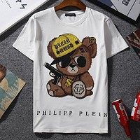 Philipp Plein Woman Men Fashion Casual Sports Shirt Top Tee