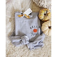 Hello Pumpkin Sweatshirt in Gray