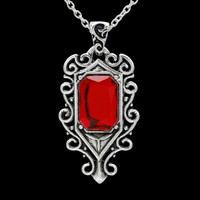 The Mortal Instruments City of Bones Necklace ISABELLE Angelic Power Necklace Movie Jewelry Statement Necklace Ruby Jewelry