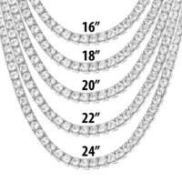 "One Row 5mm 16""-24"" Tennis Choker design Necklace"