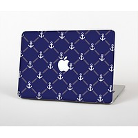 """The Navy Blue & White Seamless Anchor Pattern Skin for the Apple MacBook Air 13"""""""