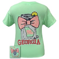 SALE Girlie Girl Originals Georgia Chevron Mason Jar Preppy State Bow Bright T Shirt