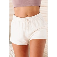 Dawn Raw Edge Lounge Shorts (Bone)