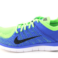 Nike Free 4.0 Flyknit Men's Royal Blue/Electric Green Running Shoes 631053 402