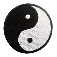 Yin Yang Iron On Patch Embroidery Sewing DIY Customise Denim Cotton