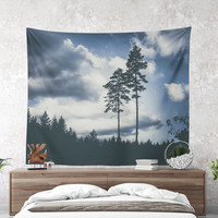 Wall Tapestry With Wanderlust Photography Print, Forest Wall Art, Nature Photography, Wanderlust Home Decor, Dorm Wall Decor, Gift, Fine Art