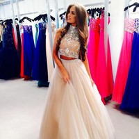 UlassBeads And Sequins Prom Dresses..