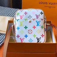 LV Color Letter Logo Women's Camera Bag Shoulder Messenger Bag