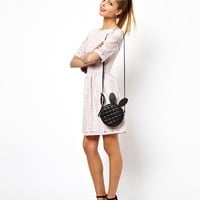 ASOS Skater Dress In Lace With Wrap Back