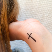 4 Cross Temporary Tattoos- SmashTat