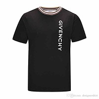 Givenchy New Paris men's and women's summer casual T-shirt cotton embroidery alphabet fashion Medusa short-sleeved T-shirt13-