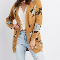 Floral Open-Front Cardigan   Charlotte Russe