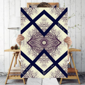 Baroque Mandala Art Print - Indie Wall Art - Tree Branch Art, Digital Download | Printable Bohemian Decor by Mila Tovar