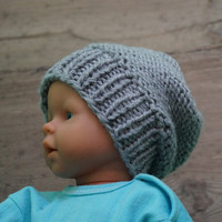 Newborn Hipster Hat Baby Fall Winter Hat Slouchy Baby Hat  Photo Prop Hat  Newborn Knit Hat boys slouchy hat Slouchy Baby Beanie ANY COLOR
