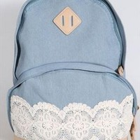 New Denim Authentic Lace Backpack from styleonline