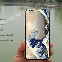 Japanese Wave iPhone 5 case cover,great wave of kanagawa,iPhone 5C case,Iphone 5 cover,iPhone 5S case,Samsung Galaxy S3 S4,iPhone 4/4S-375