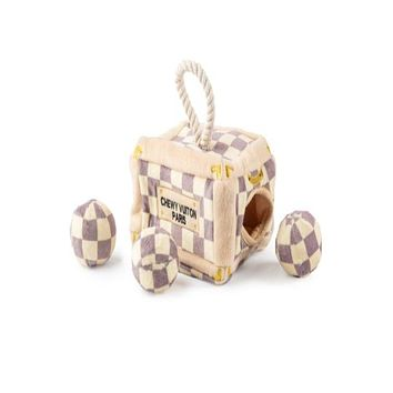 Chewy Vuiton Trunk Activity House - Checker