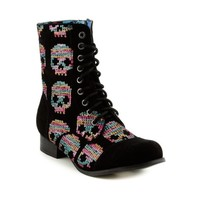 Womens Iron Fist Combat Boot, Black  Journeys Shoes