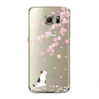 Ultra Thin Transparent Soft Black White Cat Owl Eagle Cell Phone Back Cover For Samsung Galaxy S5 S6 S6Edge S6Edge+ S7 S7edge