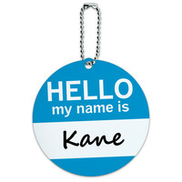 Kane Hello My Name Is Round ID Card Luggage Tag