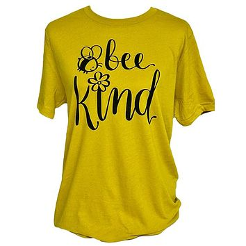 Southern Attitude Bee Kind Soft Canvas T-Shirt