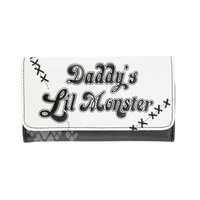 DC Comics Suicide Squad Harley Quinn Daddy's Little Monster Flap Wallet