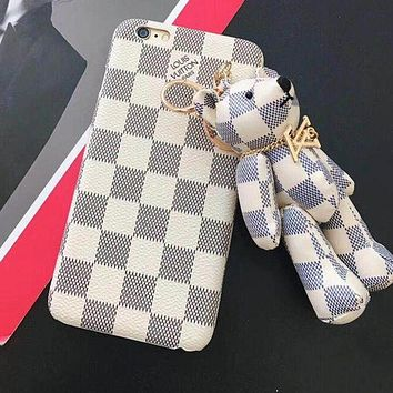 LV Louis Vuitton Gucci Stylish Cute Hot Sale Bear Mobile Phone Shell iPhone Phone Cover Case For iphone X iphone 8 8plus iPhone6 6s 6plus 6s-plus iPhone 7 7plus(4-Style) I