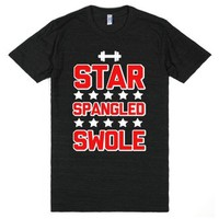 Star Spangled Swole-Unisex Athletic Black T-Shirt