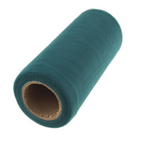 Premium Tulle Spool Roll, 6-inch, 25-yard, Smoke Blue