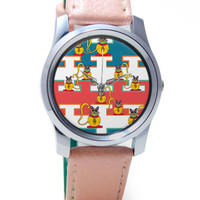Cute Cats Pattern Wrist Watch