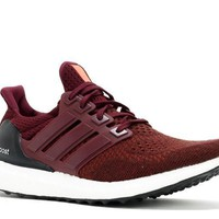 Ready Stock Adidas Ultra Boost Burgundy Maroon Sport Running Shoes
