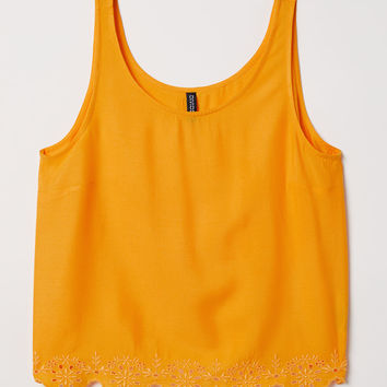 H&M Top with Eyelet Embroidery $14.99