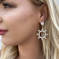 A Star Is Born Gold Diamond Earrings