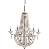 Hille White Stained Beaded Chandelier