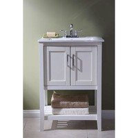23-inch Bathroom Vanity Set with White Porcelain Top