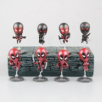Deadpool Dead pool Taco Marvel   Action Figures Car Accessories Bobble Head Dolls Collectible 8pcs/set 6cm KT2952 AT_70_6