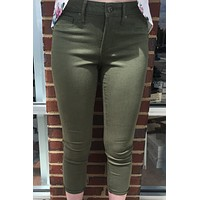 """Articles of Society """"Christina Skinny Crop"""" Jean - Camby Olive Green"""