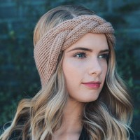 1Pcs Women Head Wrap Wide Crochet Bow Knot Turban Knitted Hairband Ear Warmer Headbands Headwrap Hair Band Accessories