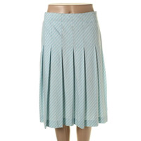 Theory Womens Striped Pleated A-Line Skirt