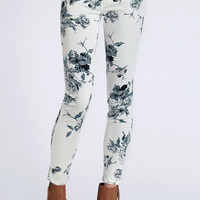 Floral Secrets Skinny Jeans - $48.00 : ThreadSence, Women's Indie & Bohemian Clothing, Dresses, & Accessories