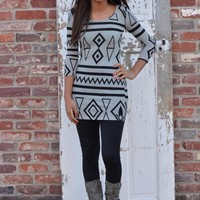 Geo Sweater Dress