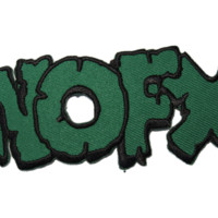 """NOFX Cut Out Logo Iron On Embroidered Patch 3.9""""/9.8cm"""