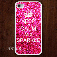 iPhone 4 Case iphone 4s case  Keep Calm and sparkle by ArtTrip