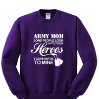 Army MOM Crewneck Sweatshirt. Awesome Gift
