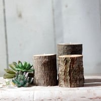 Rustic Thanksgiving Candle Holder - Rustic Home Decor