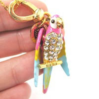 Parrot Bird Animal Pendant Necklace | Limited Edition Animal Jewelry