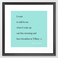 Typography Print - Canvas Gallery Wrap - Breakfast at Tiffany's - Quotes - Typography - Home Decor -  Wall Decor - Housewares - Tiffany Blue