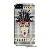Fashionista iPhone 5 Case, iPhone 4 Case - Colorful Funky Abstract Art, iPhone cases, by Ingrid, iPhone 5S case